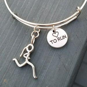 Jewelry - New love to run charm bracelet, marathon bracelet